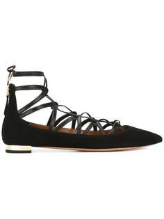 балетки на шнуровке Aquazzura