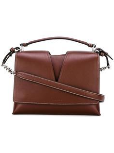 сумка через плечо с контрастной строчкой Jil Sander