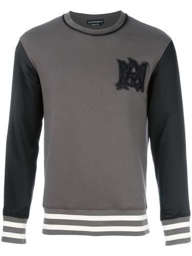 embroidered signature sweatshirt Alexander McQueen