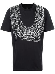text print T-shirt Oamc