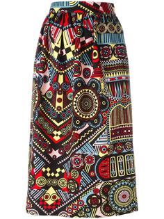 printed straight skirt  Holly Fulton