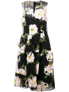 floral embroidered dress Simone Rocha