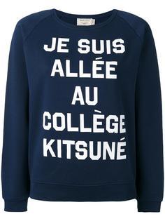 quote print sweatshirt Maison Kitsuné