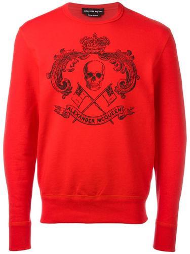 skull crest sweatshirt Alexander McQueen