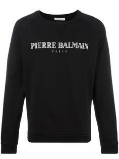 logo print sweatshirt Pierre Balmain