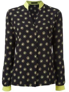 рубашка с контрастными манжетами Etro