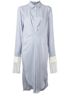 платье-рубашка в полоску с бахромой Loewe
