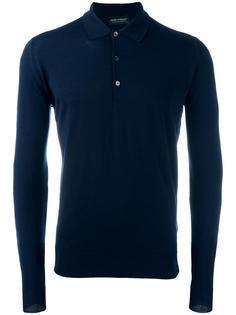 рубашка-поло с длинными рукавами John Smedley