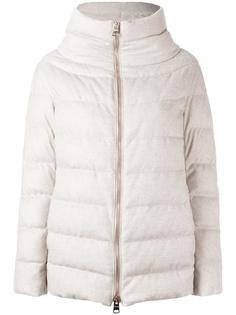куртка-пуховик на молнии с высокой горловиной Herno
