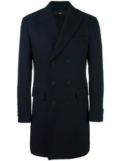 двубортное пальто Boss Hugo Boss