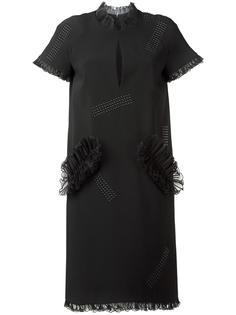 платье с рюшами и заклепками Christopher Kane