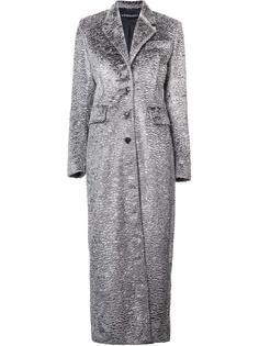 фактурное однобортное пальто Y / Project