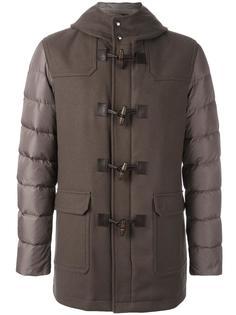 пальто-пуховик с контрастными рукавами Herno