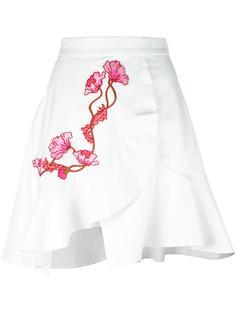 юбка с запахом и вышивкой Carven