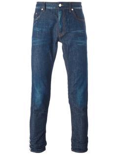джинсы кроя скинни Love Moschino