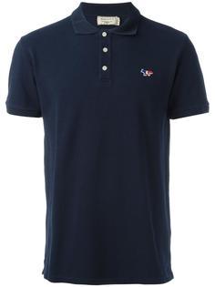 футболка-поло с вышивкой логотипа Maison Kitsuné