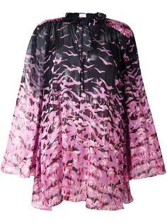 прозрачная блузка с принтом фламинго Giamba