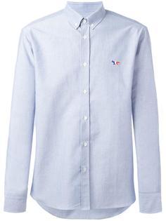 рубашка с вышивкой логотипа Maison Kitsuné