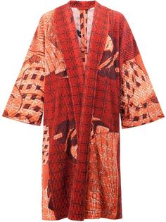 abstract print kimono coat Homme Plissé Issey Miyake