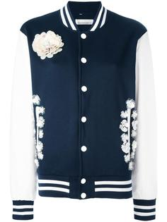 flower embellished bomber jacket Night Market