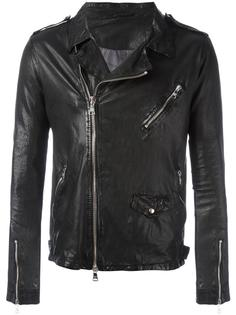 chest pocket biker jacket Giorgio Brato