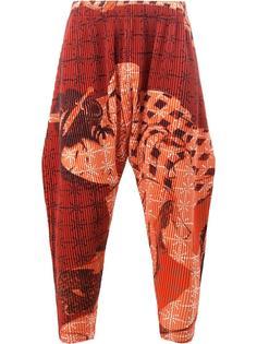 свободные широкие брюки Homme Plissé Issey Miyake