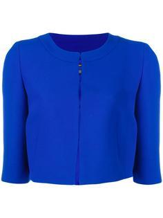 three-quarters sleeve cropped jacket Alberta Ferretti