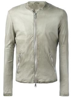 banded collar leather jacket Giorgio Brato