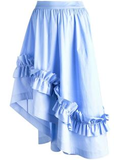 юбка миди с рюшами Cédric Charlier