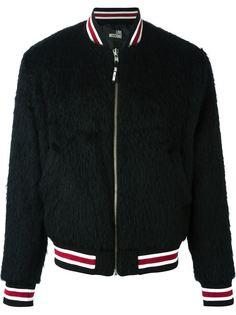 куртка-бомбер с панелями в полоску Love Moschino