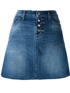 джинсовая юбка А-образного силуэта  7 For All Mankind