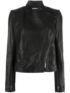 кожаная куртка со смещенной застежкой Ann Demeulemeester
