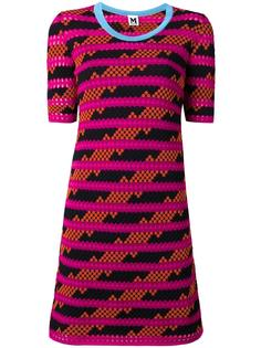 striped pattern shortsleeved dress M Missoni
