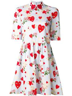 heart print flared dress Vivetta