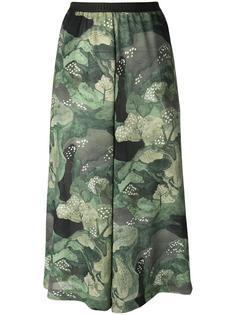 укороченные брюки с принтом деревьев Antonio Marras