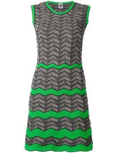 geometric pattern knitted dress M Missoni
