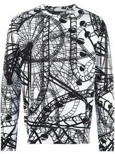 rollercoaster print sweatshirt Love Moschino