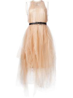 платье с ремнем и пышной юбкой Vera Wang