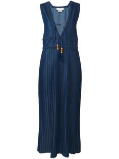 V-neck pleated dress  Veronique Branquinho