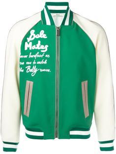 leather varsity bomber jacket  Bally