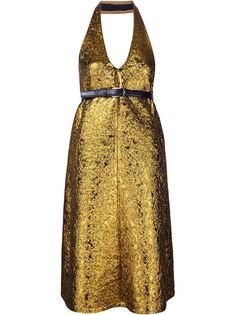 жаккардовое платье с отделкой металлик Vera Wang