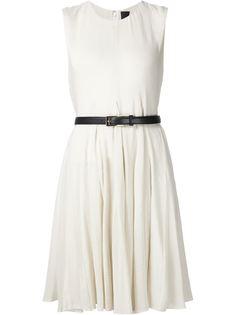 платье без рукавов с поясом Vera Wang