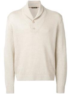 свитер с воротником-шалькой  Loro Piana