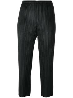 pleated cropped trousers  Pleats Please By Issey Miyake