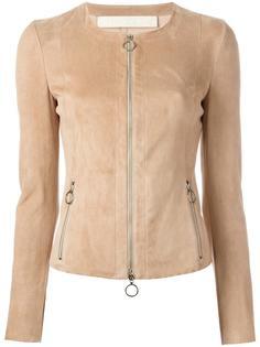 zipped leather jacket  Drome