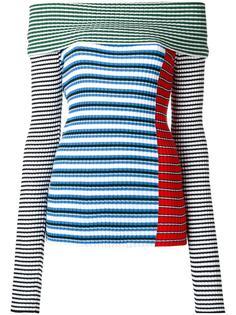 тканая блузка с заниженными плечами MSGM