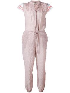 ruffled striped jumpsuit Lemlem