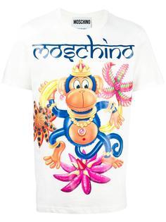 футболка с принтом Monkey Moschino