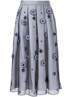 декорированная  юбка с плиссировкой  Holly Fulton