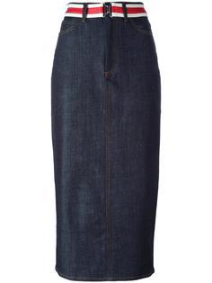 длинная джинсовая юбка Victoria Victoria Beckham